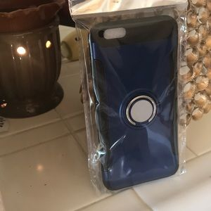 Accessories - iPhone 6P Ring Case w/ & Magnetic Car Vent Holder